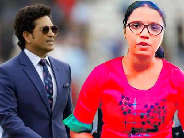 सचिन ने रत्नागिरी की रहने वाली दीप्ति विश्वासराव(दाएं) की मेडिकल की पढ़ाई का पूरा खर्च उठाने का वादा किया है। - Money Bhaskar