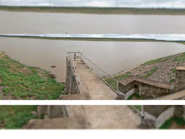 चार दिन से लगातार बारिश बाद मोरवन डेम में पानी आना शुरू हो गया। फोटो-आशीष बैरागी - Money Bhaskar