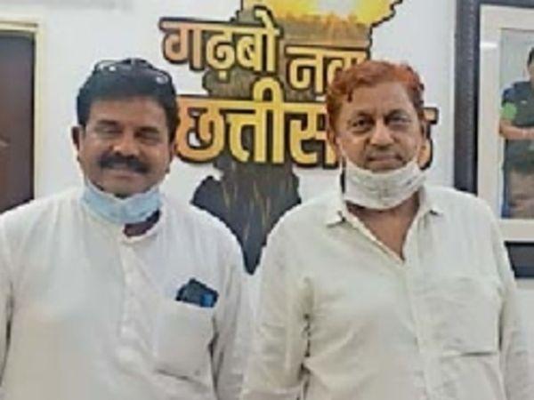 वनमंत्री से मिले अटल श्रीवास्तव।