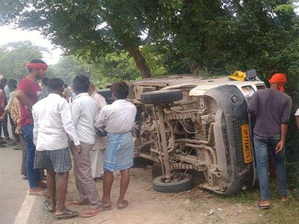 लोडर पलटने से दो महिलाओं की मौत सहित सात लोग बुरी तरह घायल हो गए। - Money Bhaskar