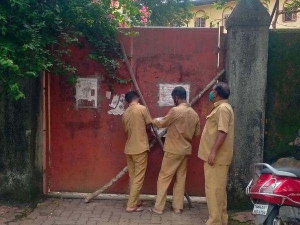 एक साथ 22 बच्चों के कोरोना पॉजिटिव मिलने के बाद अब इस अनाथालय को सील कर दिया गया हैं। - Money Bhaskar