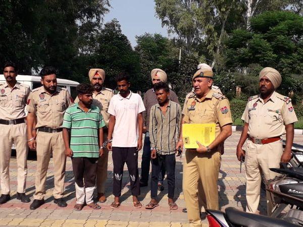 अजनाला में तेल टैंकर में टिफिन बम लगाने के आरोपी विक्की, मलकीत और गुरप्रीत को वीरवार को अजनाला कोर्ट ने 4 दिन के पुलिस रिमांड पर भेज दिया। - Money Bhaskar