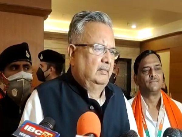 बैठक में बाद डॉ.रमन सिंह ने कांग्रेस पर हमला बोला है। - Money Bhaskar
