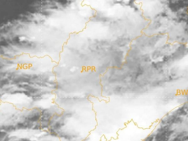 मौसम विज्ञान की ओर से जारी इस तस्वीर में प्रदेश के आसमान में घने बादलों को देखा जा सकता है।