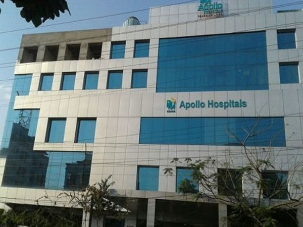 राजश्री अपोलो हॉस्पिटल जहां संगीता की मौत हुई।