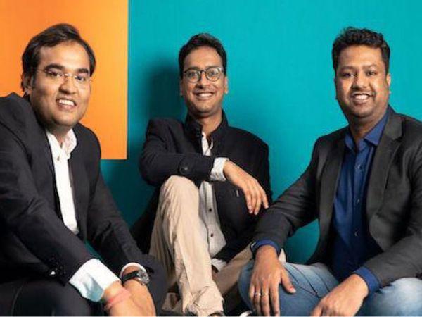 कंपनी के COO विमल सागर, CTO गोविंद सोनी और CEO आशीष सिंघल। (बाएं से दाएं) - Money Bhaskar