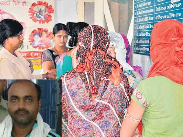 वैद्यकीय तपासणीसाठी आलेल्या पीडित मुली आणि  इन्सेटमध्ये आरोपी रितेश - Divya Marathi