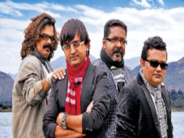 बायोस्कोप चित्रपटाचे ४ दिग्दर्शक. गजेंद्र अहिरे, रवी जाधव, विजू माने आणि गिरीश मोहिते. - Divya Marathi