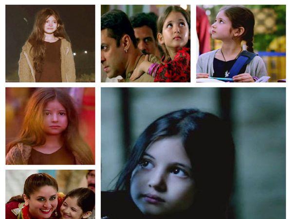 \'बजरंगी भाईजान\' या सिनेमाच्या वेगवेगळ्या दृश्यांत हर्षाली मल्होत्रा. - Divya Marathi