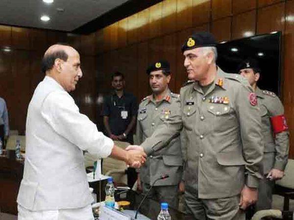 गृहमंत्री राजनाथ सिंह यांनी शुक्रवारी पाकिस्तानी शिष्टमंडळासमोर देशाची भूमिका मांडली. - Divya Marathi