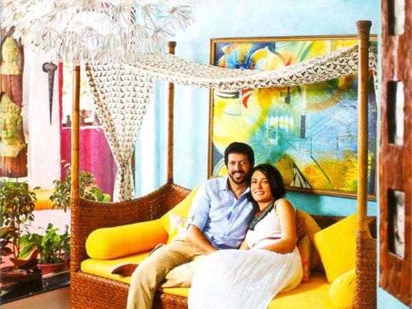 कबीर खान आणि मिनी मथुर यांच्या बेडरुमचा व्ह्यू. - Divya Marathi