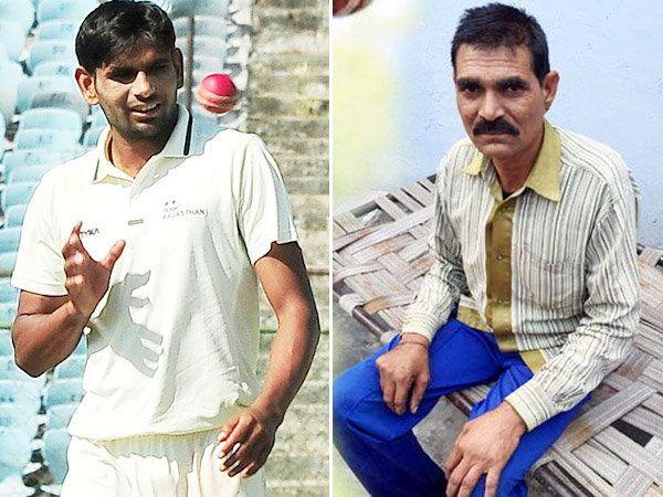 क्रिकेटर नाथू सिंग (डावीकडे) आणि त्याचे पिता भरत सिंग. - Divya Marathi