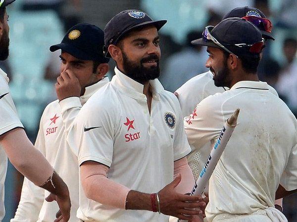 कोलकाता कसोटी 178 धावांनी जिंकल्यानंतर विराट कोहलीने असा आनंद व्यक्त केला. - Divya Marathi