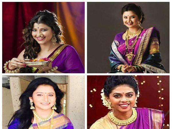 अभिनेत्री तेजस्विनी पंडीत, प्राजक्ता माळी, जुई गडकरी आणि  ऋतुजा बागवे - Divya Marathi