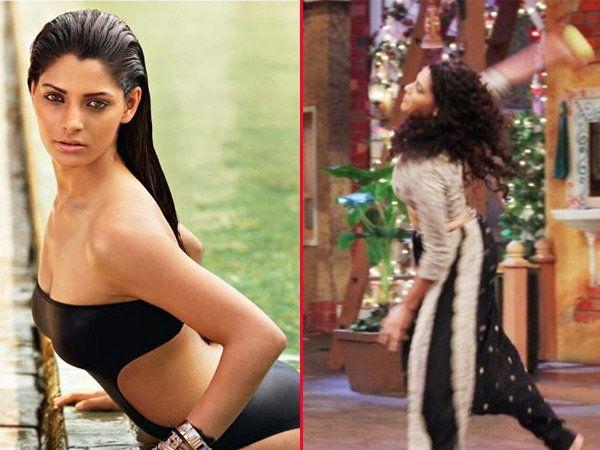 फिल्म मिर्ज्याची अॅक्ट्रेसने प्रमोशनल इव्हेंटदरम्यान एक शोत बॉलिंग करताना.... - Divya Marathi