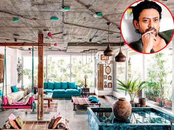 अभिनेता इरफान खानच्या घराची खास झलक - Divya Marathi