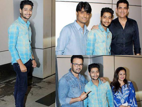 निर्माता संदीप सिंग, दिग्दर्शक ओमंग कुमार आणि अभिनेता रोहित रॉयसोबत \'सैराट\' सिनेमातून प्रसिद्धीझोतात आलेला अभिनेता आकाश ठोसर - Divya Marathi
