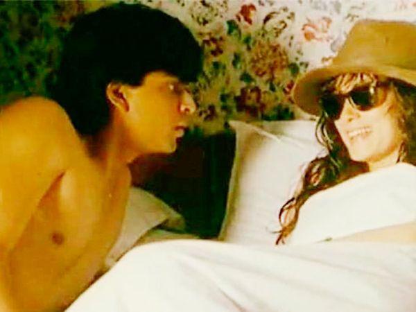 माया मेमसाब सिनेमातील दृश्यात शाहरुख खान आणि दीपा साही - Divya Marathi