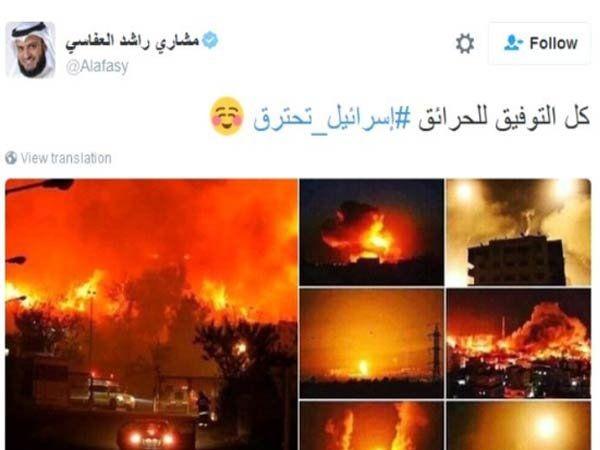 इस्त्रायल मीडियाने अलअफसी नावाच्या एका यूजरच्या ट्वीटचा हवाला देत हा खुलासा केला आहे. - Divya Marathi