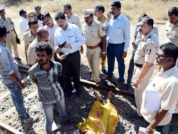 रेल्वे स्थानकावर आढळलेला मृतदेह अर्धनग्न अवस्थेत सापडला होता. - Divya Marathi