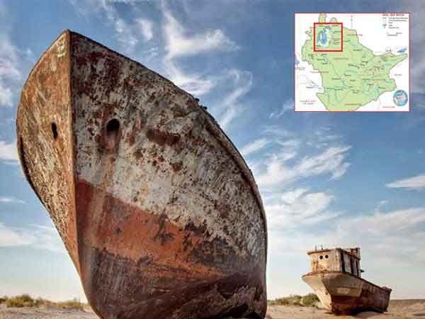 अरल समुद्र 1960 पासून ओसाड पडला आहे. - Divya Marathi