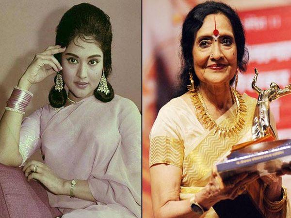 अभिनेत्री वैजयंतीमाला यांचा अगोदरचा आणि आताचा लुक - Divya Marathi