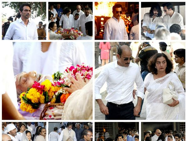 विनोद खन्ना यांना अखेरचा निरोप द्यायला पोहोचलेले कलाकार... - Divya Marathi