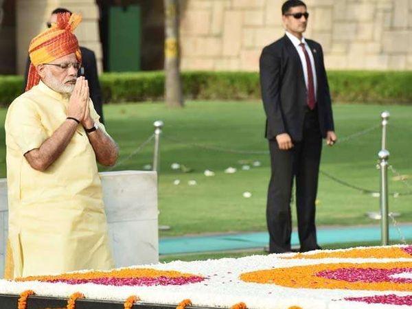 पंतप्रधान मोदी यांनी 2022 पर्यंत नवा भारत घडविण्याचे आवाहन केले. - Divya Marathi