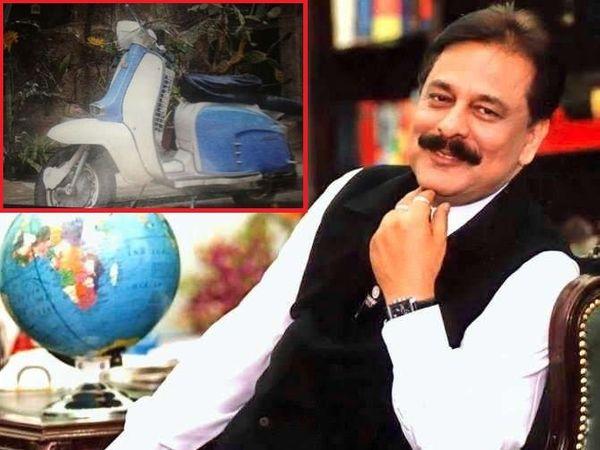 सहारा समुहाचे अध्यक्ष सुब्रत रॉय कधीकाळी स्कुटरवर बिस्किटे विकत होते. - Divya Marathi