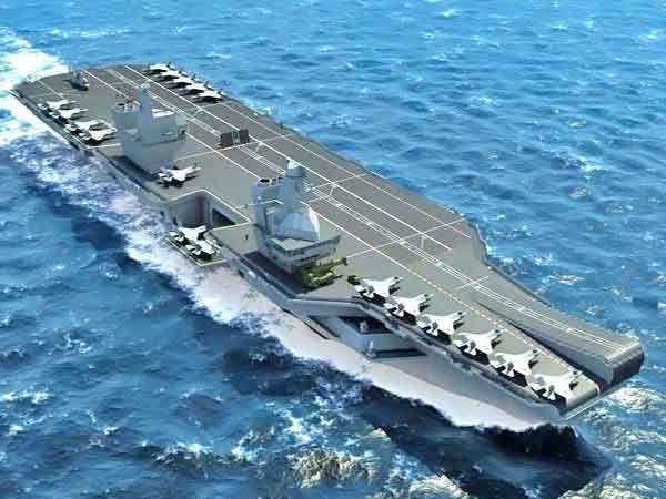 बिग लिजी नावाने प्रसिद्ध असलेली क्वीन एलिजाबेथ ही ब्रिटनची सर्वात मोठी युद्धनौका आहे. - Divya Marathi