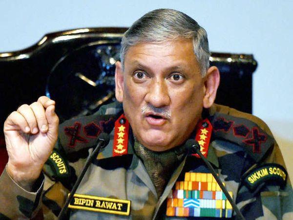 भारतीय लष्कर प्रमुख जनरल बिपीन रावत यांच्या वक्त्यव्यावरुन चिनी मीडियाने त्यांना लक्ष केले. - Divya Marathi