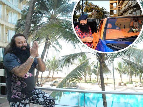 हनीप्रीत आणि बाबा राम रहीम आपल्या चित्रपटांचे प्रमोशन करण्यासाठी मुंबईला ये-जा करत होते. - Divya Marathi