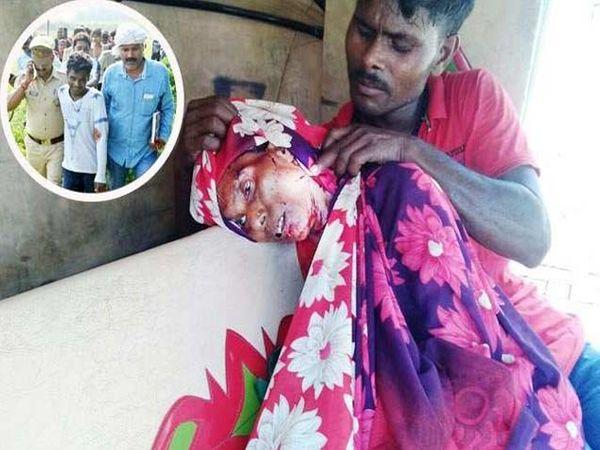 मुलानेच आईवर चाकूने वार करून तिचा खून केला. - Divya Marathi