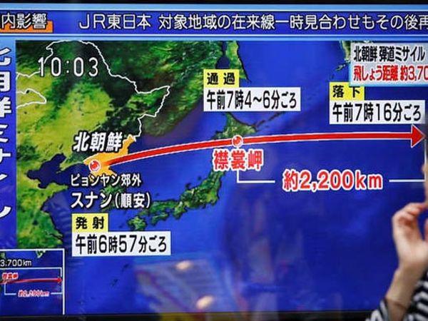 दक्षिण कोरियाचे संरक्षण मंत्री म्हणाले की, उत्तर कोरियाच्या या क्षेपणास्त्राने 3700 किमी अंतर पार केले असून 770 किमी उंचीपर्यंत गेले. - Divya Marathi