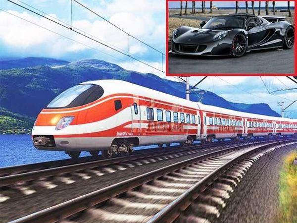 इन्सॅटमध्ये बुलेट ट्रेनपेक्षा 100 kmph ने धावणारी वेनम जीटी स्पाइडर कार. - Divya Marathi