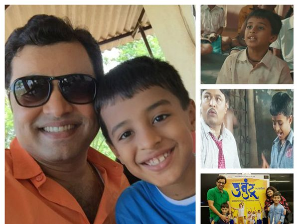 मुलगा कान्हासोबत सुबोध भावे - Divya Marathi