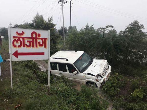 याच स्कॉर्पिओने गाडीने 4 जणांना उडवले. - Divya Marathi