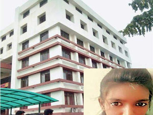नाईक शिक्षण संस्थेच्या याच इमारतीच्या सहाव्या मजल्यावरून उडी मारत विद्यार्थिनीने आत्महत्या केली. - Divya Marathi