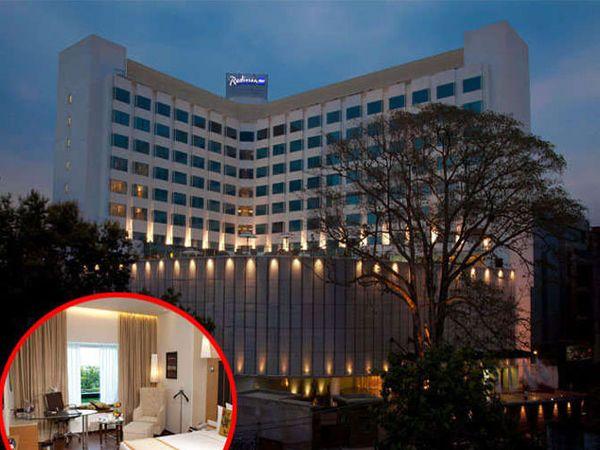 हॉटेल रेडिसन ब्लू शहरातील पंचताराीकिंत हॉटेल आहे. - Divya Marathi