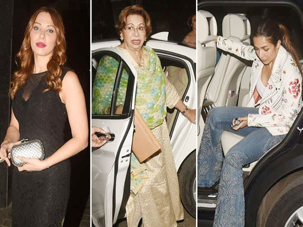 सलमान खानची आई हेलन यांच्या बर्थडे पार्टीत पोहोचल्या यूलिया वंतूर आणि मलायका अरोरा - Divya Marathi