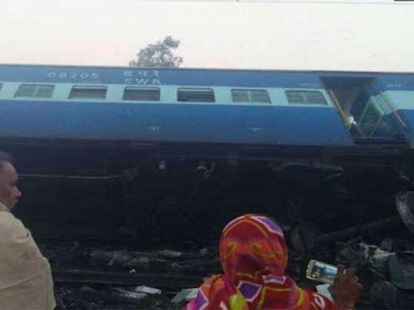 उत्तरप्रदेशातील माणिकपूर स्टेशनजवळ सकाळी 4.18 वाजेच्या सुमारास ही दुर्घटना घडली. - Divya Marathi