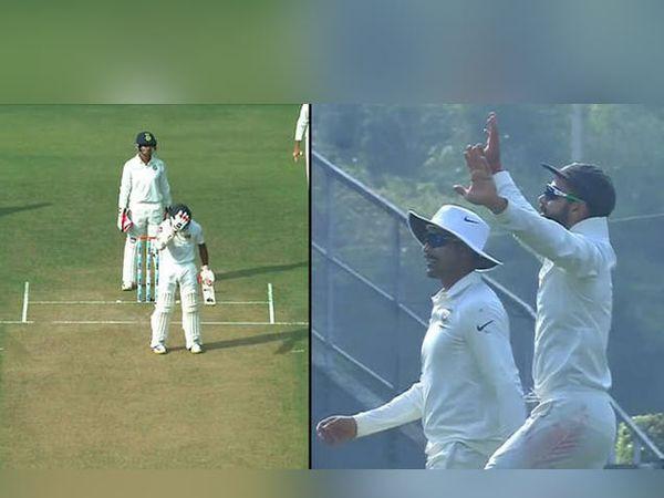 भारत-श्रीलंका सामन्यादरम्यान डिकवेलाने डोके पकडल्यावर विराट नाचायला लागला. - Divya Marathi