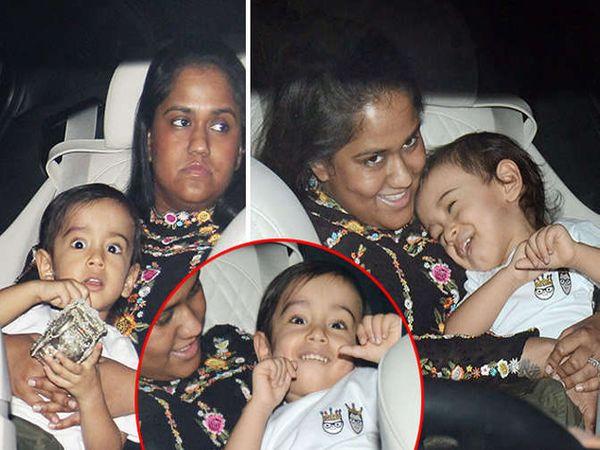 मुलगा आहिलसोबत वडिलांच्या बर्थडे पार्टीत पोहोचली अर्पिता शर्मा - Divya Marathi