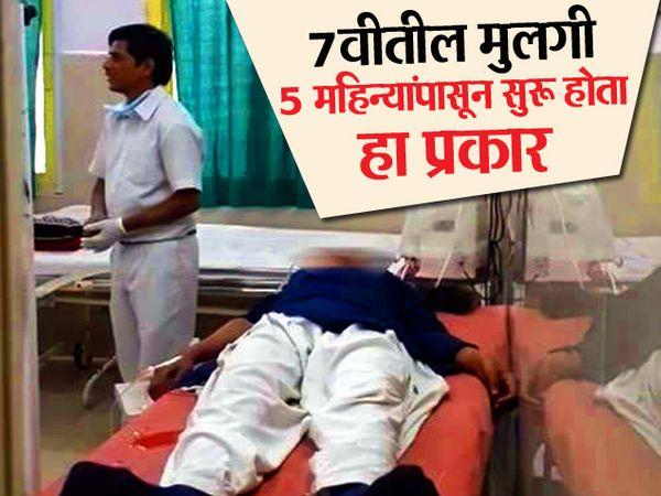 पीडित विद्यार्थिनीला गंभीर अवस्थेत रुग्णालयात दाखल करण्यात आले. - Divya Marathi