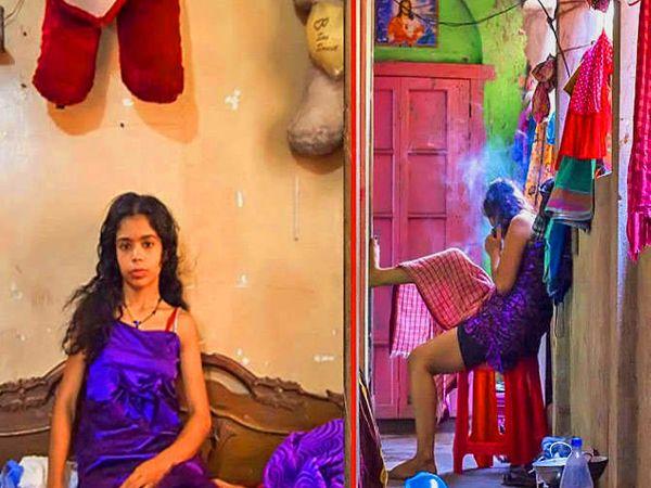 तंग खाेलीत असा वेळ घालवतात तरुणी. - Divya Marathi