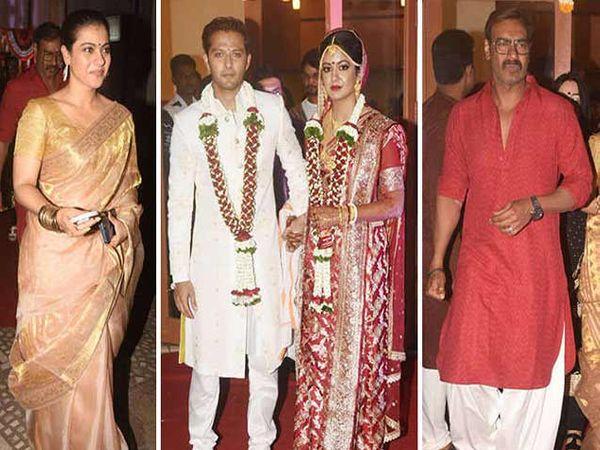 इशिता दत्ताच्या लग्नाल अजय देवगण आणि काजोल आवर्जुन उपस्थित होते. - Divya Marathi