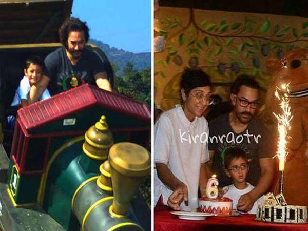 आमिर खान आणि किरण राव यांचा मुलगा आझादचे बर्थडे सेलिब्रेशन. - Divya Marathi