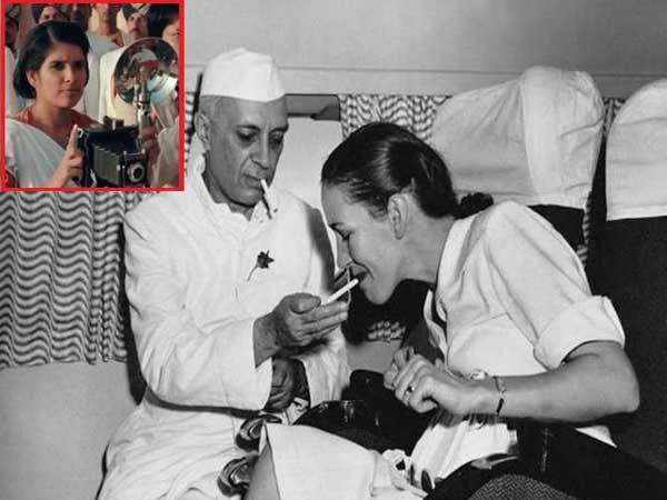 नेहरुजींचा हा फोटो होमीने एका विमानात काढला होता. (इन्सेटमध्ये होमी व्यारावाला...) - Divya Marathi