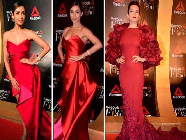 रेड कार्पेटवर मलायका अरोरा आणि कंगना रनोट. - Divya Marathi
