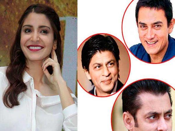 अनुष्का शर्मा, आमिर खान, शाहरुख खान आणि  सलमान खान. - Divya Marathi